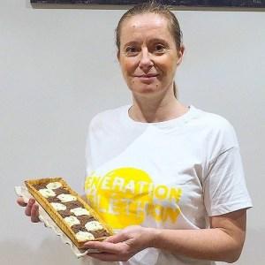 tarte au citron et au chocolat créée pour le Téléphon Florence Richomme
