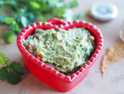 guacamole avec coriandre et piment d'espelette
