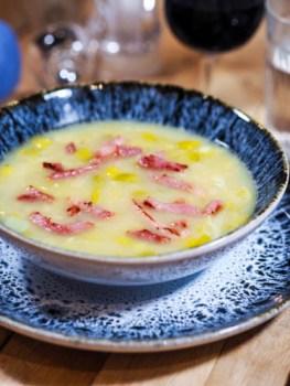 Soupe poireaux et pommes de terre façon Bernard Loiseau