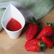 sauce vinaigrette à la fraise pour salade