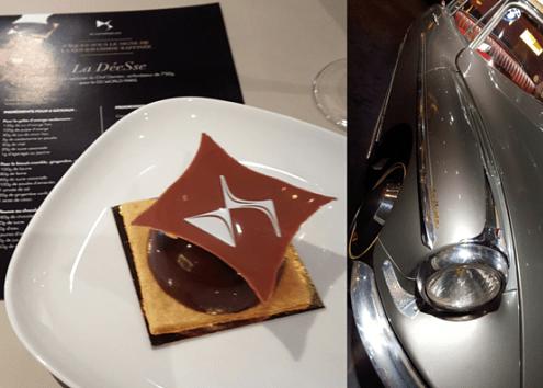 gâteau au chocolat créé par chef Damien pour DS World