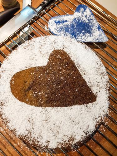 faire un cœur sur le gâteau #lefraternel
