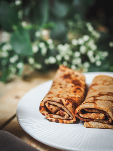 Gluten free French crepes with chestnut flour