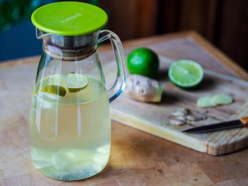 eau au citron et au gingembre, bienfaits pour la santé