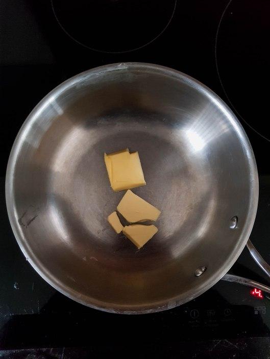 first melt butter in a pan