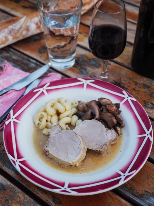 filet mignon de porc à la moutarde de Dijon