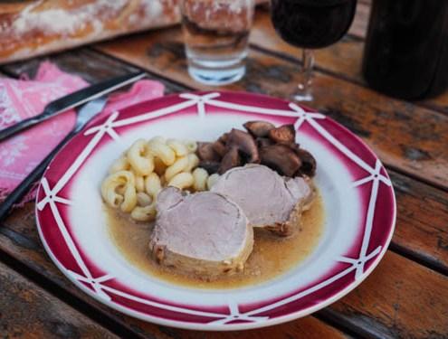 filet mignon de porc à la moutarde de Dijon