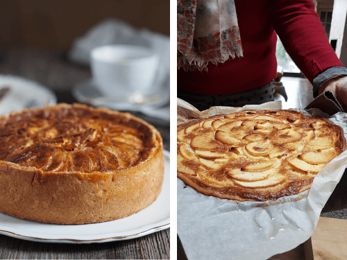 apple tart norman cream filling one recipe two versions