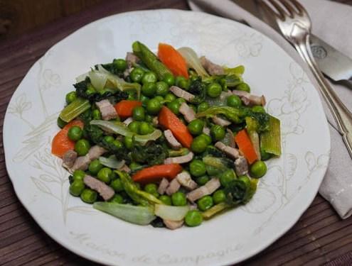 recette traditionnelle des petits pois à la française