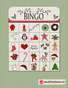 Free Printable Christmas Bingo Game Card 9