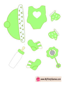 Green clothes for Baby Dress up Game