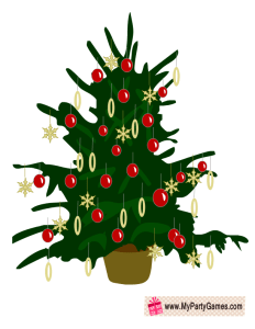 Free Printable Christmas Ornaments Guessing Game Card