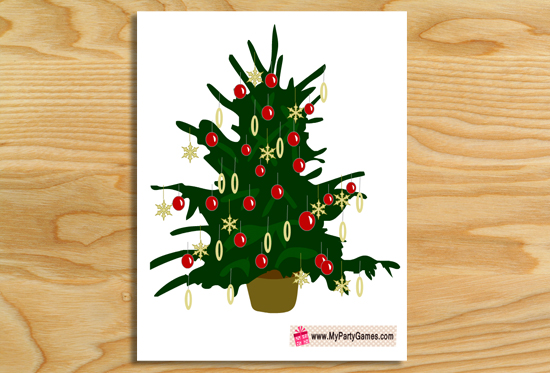 Free Printable Christmas Ornaments Guessing Game