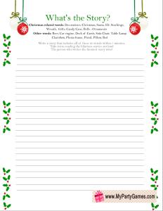 What's the Story? - Free Printable Christmas Game