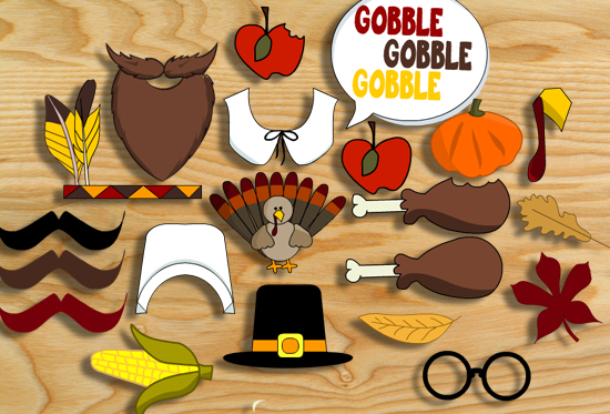 Thanksgiving Photo Booth Props { Free Printable }