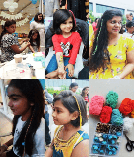 Book hair beading artist for birthday party entertainment in Bangalore