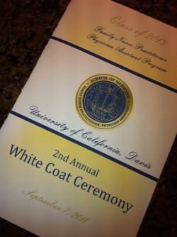 UC Davis White Coat Ceremony Program