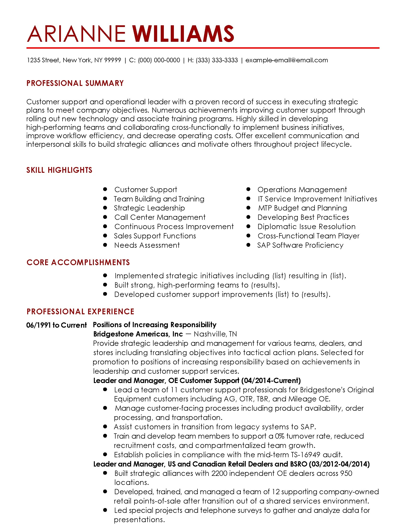 Call Center Manager Resume Accomplishments