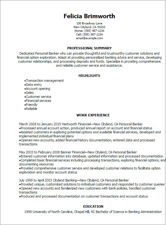 phone banker resume