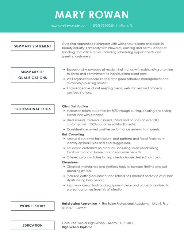 Free Online Resume Samples From Myperfectresume Com