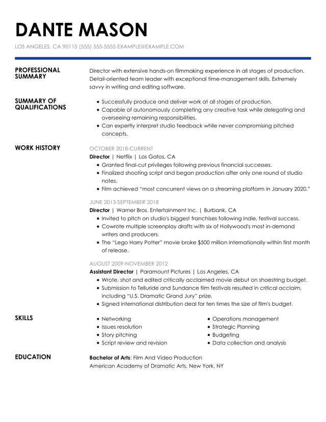Professional Director Resume Example + Tips  MyPerfectResume