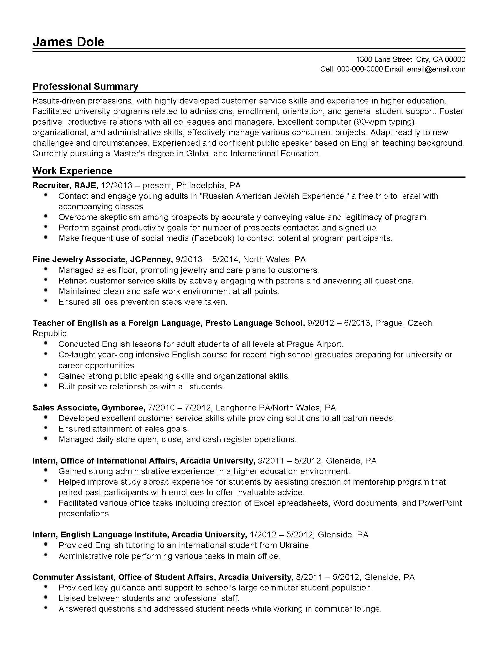 Professional University Administrator Templates To