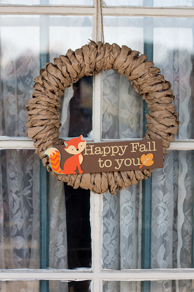 Fall Paper Bag Wreath DIY