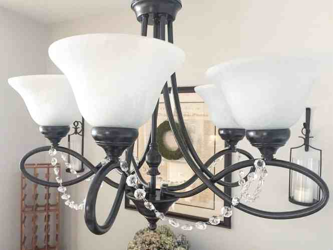 DIY chandelier painting project