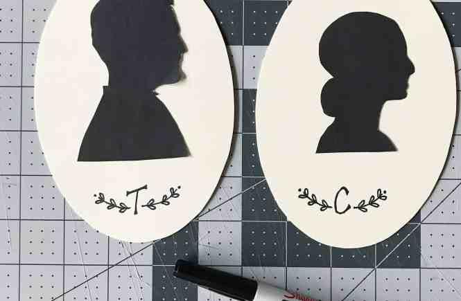 DIY Silhouette Art | www.mypetitejoys.com