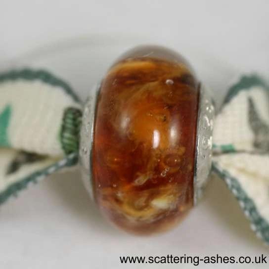 Pandora Ashes Charm Bead - Amber