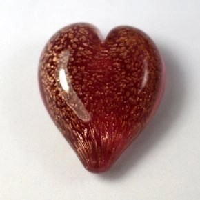 Pets Ashes into Glass: Handheld Stardust Hearts - Pink