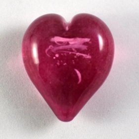 Pet Ashes into Glass Heart: Wisp Pink