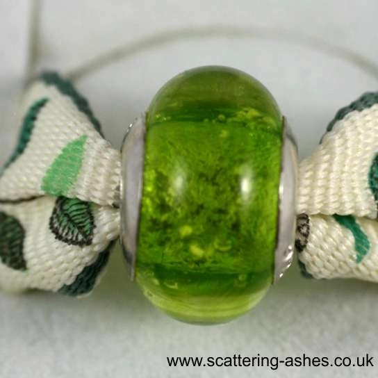 Pandora Ashes Charm Bead - Lime Green