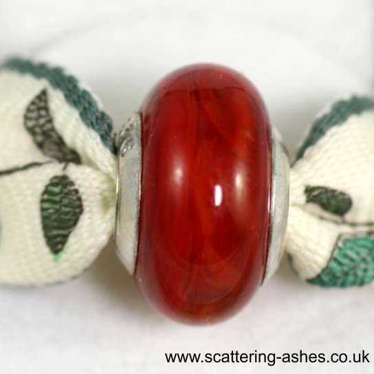Pandora Ashes Charm Bead - Red