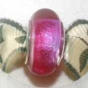 Pandora Style Memorial Bead - Fuchsia