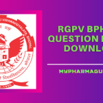 RGPV BPharm Question Papers Free Download - 2021