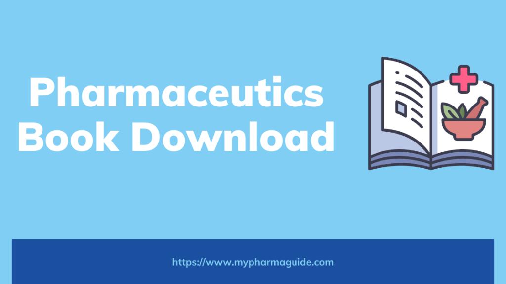 Pharmaceutics 1 Book PDF Free Download