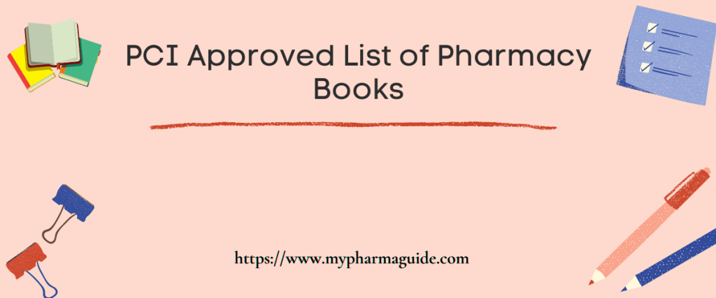 PCI Approved List of Pharmacy Books