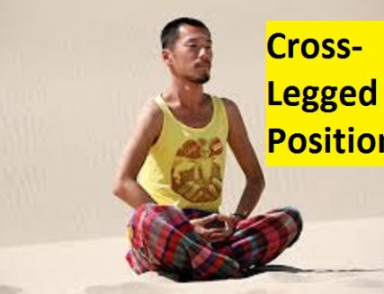 how to meditate in cross legged position