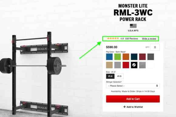 best wall mounted squat rack from Rogue