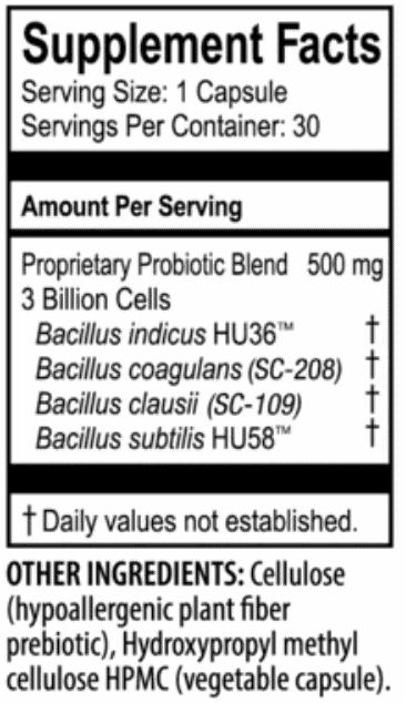 just thrive probiotic ingredients