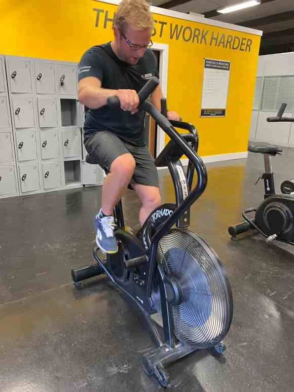 Cardio Work Out on Air Bike