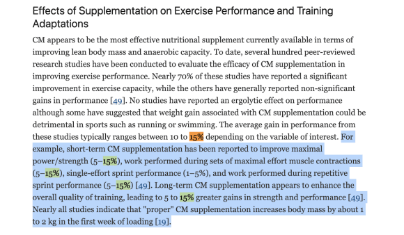 Effects of Supplementation