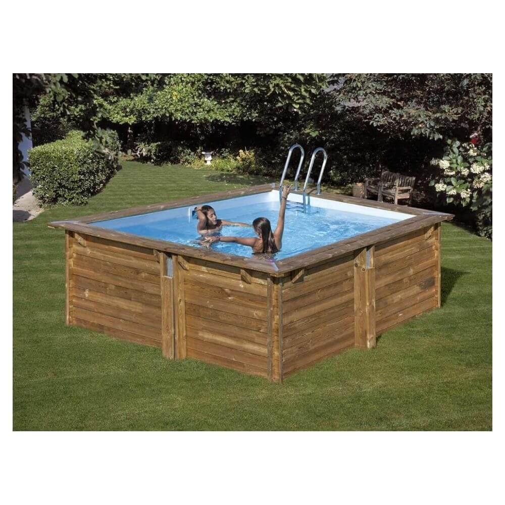 piscine bois carra 305 x 305 x h 119 cm