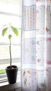 gardin med lommetørkler
