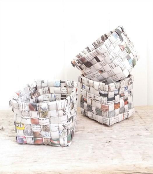 kurver av avispapir