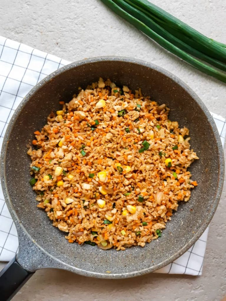 Fried rice in pan