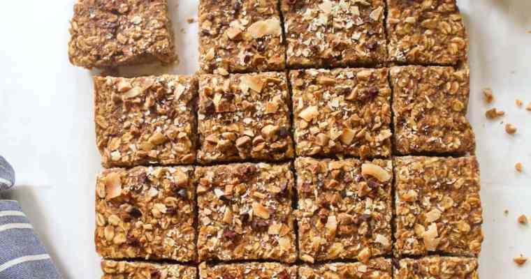 Peanut Butter and Banana Breakfast Oatmeal Bars