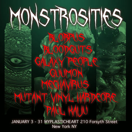 Monstrosities : Kaiju group show opens January 3rd