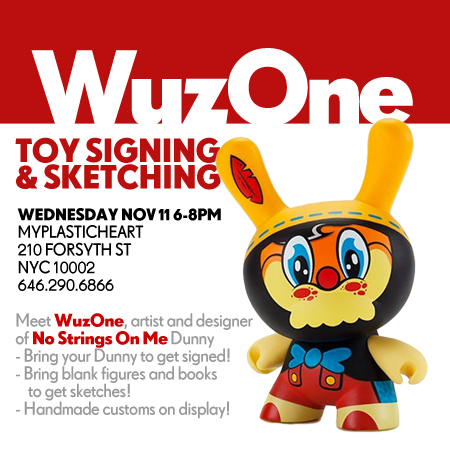 WuzOne signing at myplasticheart 11.11.15